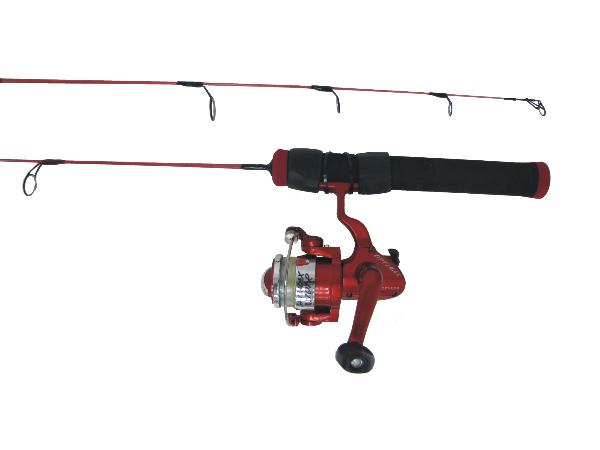 HT Red Hot Ice Fishing Rod & Reel combos